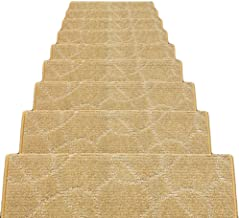 HAIPENG Self Adhesive Stair Carpet Treads Pads Mats Non Slip Staircase Rugs, 12mm, 5 Sizes, 4 Colors (Color : D-65x24x3cm,...