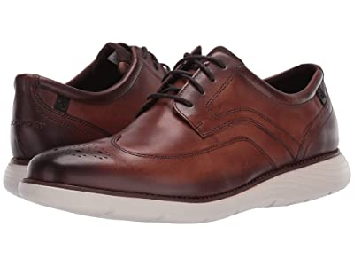 Rockport Garett Wing Tip (Cognac) Men
