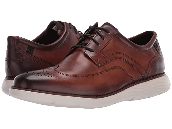 Rockport  Garett Wing Tip (Cognac) Mens Shoes