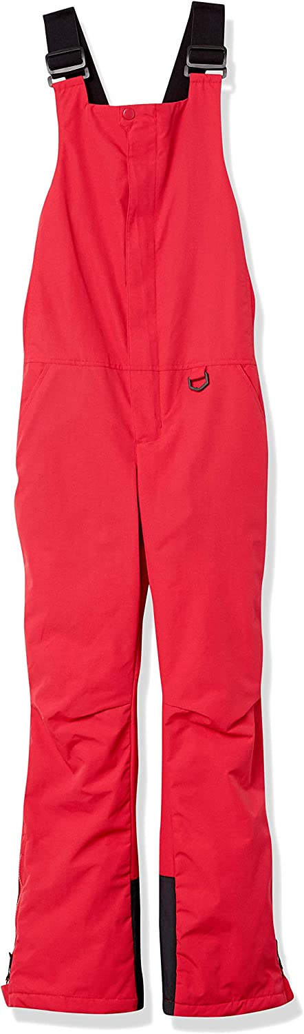 Essentials Womens Water-Resistant Full-Length Insulated Snow Bib Pants