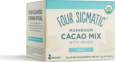 FOUR SIGMATIC Mushroom Hot Cacao Mix with Reishi (10 Packets), 6 g
