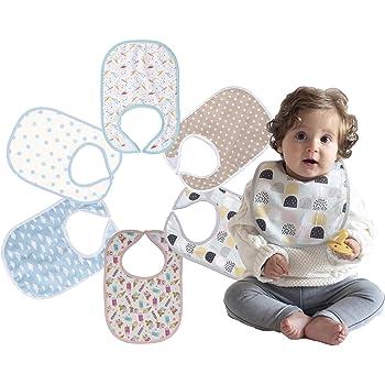 Baberos para Bebé Impermeables Niños y Niñas: Absorbente y Suave ...