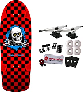 Powell Peralta Skateboard Complete Ripper Checker Red Re-Issue