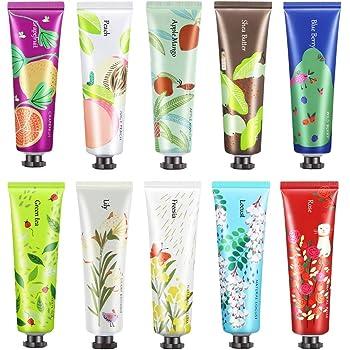 Ownest 10 Pack de extracto de frutas, fragancia, crema para manos, crema hidratante para el cuidado