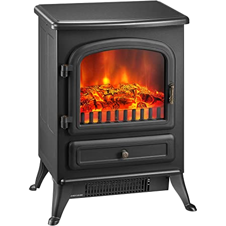 Kealive Electric Fireplace Heater 21 Freestanding Electric Stove With Realistic Flame Effect Overheat Auto Shut Off Protection And Sturdy Metal Legs 1500w Powerful Kitchen Dining