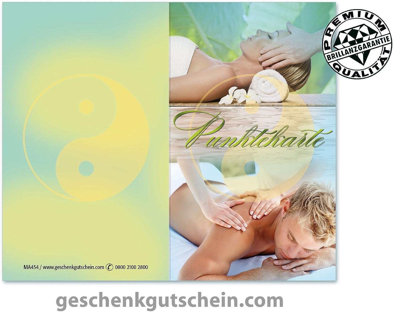 100 Stk. Punktekarten für Kosmetik, Massage, Wellness und Spa MA454 B0759V3DT9   | Gutes Design