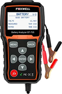 جهاز اختبار البطارية FOXWELL BT705 Automotive 100-2000 CCA لاختبار تحميل البطارية، 12 فولت 24 فولت نظام تحريك السيارة والش...