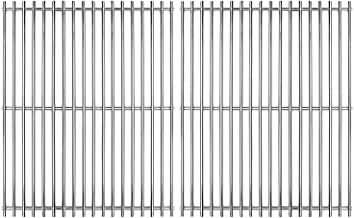 Hongso 17 inch Solid SS 304 Stainless Steel Gas Grill Grids Grates Replacement for Home Depot Nexgrill 720-0830H, Kenmore and Uniflame Gas Grills, Set of 2 (SCA192)