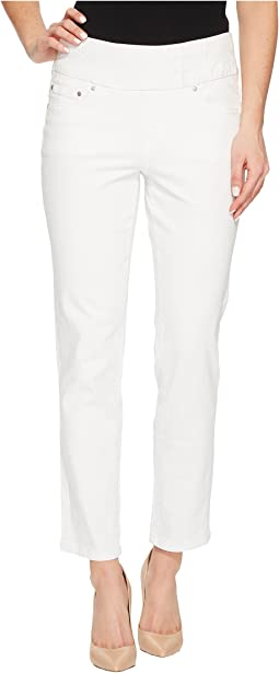 Amelia Slim Ankle Pull-On Jeans in White Denim