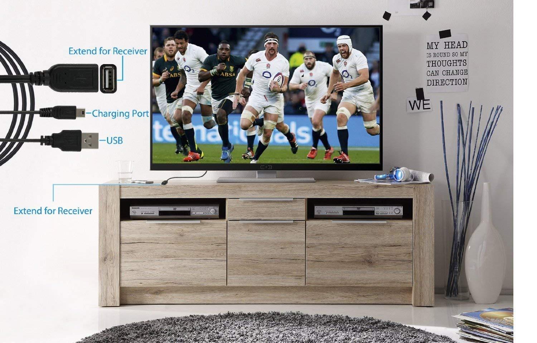 eSynic Teclado inalámbrico retroiluminado de 2.4GHz con ratón de panel táctil y batería recargable incorporada para Google Smart TV Android Box: Amazon.es: Electrónica