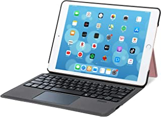 [iPad 10.2/10.5通用]Ewin® 新型 iPad キーボード ケース 一体式Bluetoothキーボード タッチパッド付き 超薄型 ワイヤレスキーボード pencil収納 日本語説明書付き(ローズゴールド)
