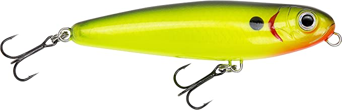 "Bagley Baits KNB09-BWTE  Knocker B 3 1//2/"" 1//2ox White Topwater Fishing Lure"