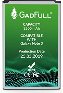 GadFull Battery Compatible with Samsung Galaxy Note 3 | Corresponds to The Original EB-B800BE | Compatible with Galaxy Note 3 GT-N9000 | GT-N9005 | GT-N 9006 |GT-N9009