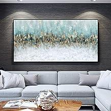 Handgeschilderd Olieverfschilderij - Abstract Modern 100% Handgeschilderd Landschapsschilderkunst Paletmes Textuur Goudfol...