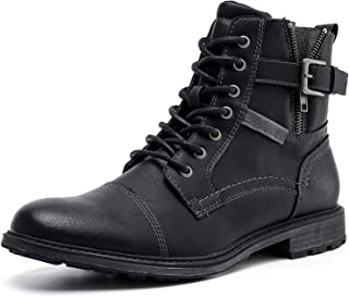 AMAPO Men's Oxfords Boots,Mens Boots Casual Mid-Top Motorcycle,Men Boots Mens Dress Boots,Ankle Boots For Men,Street Men B...