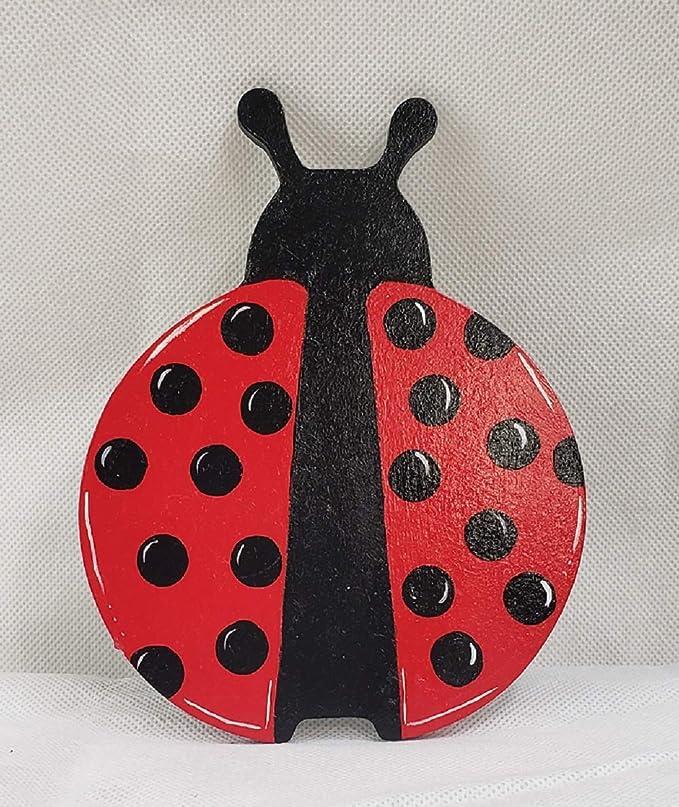 Personalized Laser Cut Out Unfinished Wood Shape Craft Supply MONO21 Ladybug Monogram