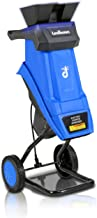 Landworks Wood Chipper Shredder Electric with Hopper Attachment Light Duty 17:1 Reduction 15-Amp 1800 Watts 120V AC