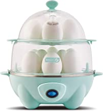 Dash DEC012AQ Deluxe Rapid Egg Cooker: Electric, 12 Capacity for Hard Boiled, Poached, Scrambled, Omelets, Steamed Vegetables, Seafood, Dumplings & More with Auto Shut Off Feature Aqua