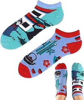 TODO Colours - Calcetines deportivos con diseño de Japón View LOW, divertidos calcetines asiáticos para hombre y mujer, mu...