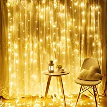 TORCHSTAR 304 LEDs 9.8FT × 9.8FT Window Curtain Light, Extendable String Light Kit, 3000K Warm White, 8 Modes Fairy Lights for Party, Wedding, Restaurant, Festival, Hotel, Bar, Home, Patio, Garden