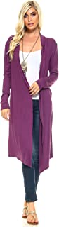 Issac Liev Isaac Liev Trendy Extra Long Duster Soft Cardigan