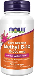 NOW Supplements, Methyl B-12 (Methylcobalamin) 10,000 mcg, Nervous System Health*, 60 Lozenges