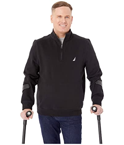 Nautica 1/4 Zip Fleece Pullover (Black) Men