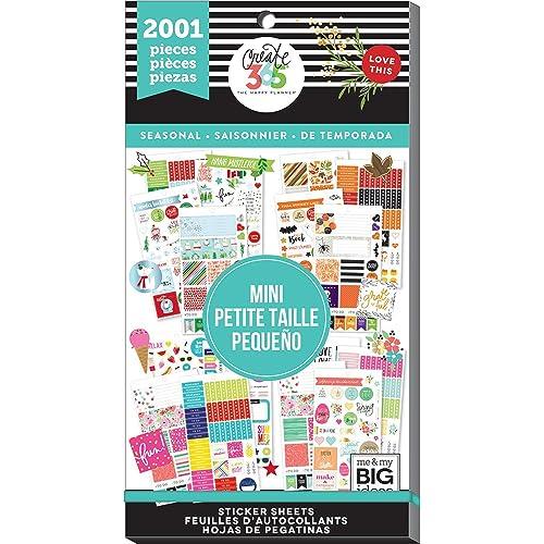 Me & My Big Ideas MAMPPSV3048.39 Create 365 Big Mini Seasonal HP Sticker Value Pack