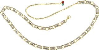Memoir Gold Plated Imitation Diamond Ethic Kamarpatta Waistbelt Kamarbandh Traditional Women Wedding Jewellery Bridal Women