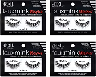 Ardell False Eyelashes Faux Mink Lashes Wispies, 4 Pack