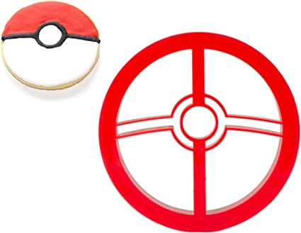 Pokemon Inspired Ball Cookie Cutter