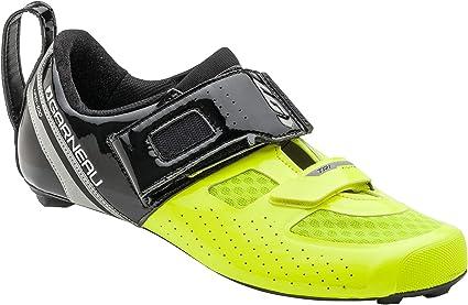 Louis Garneau, Men's Tri X-Lite Triathlon 2 Bike Shoes, Black/Bright Yellow, US (11.75), EU (46.5)