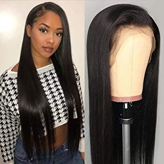 Beauty Forever 13x6 Lace Front Wig Silky Straight Human Hair Wig 150% Density Human Hair Wigs With Baby Hair For Black Women Remy Hair Glueless Lace Front Wig Pre Plucked (26 Inch)