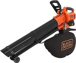 Black+Decker BCBLV3625L1 Accu-bladzuiger/bladblazer met hakselaar, 45 l opvangzak, borstelloze motor, 210 km/u luchtsnelhe...