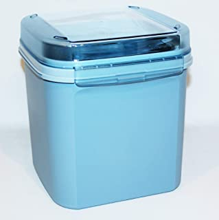 Tupperware Vintage Signature Line #3 Square 17 Cup Modular Mates with Hinged Seal Blue
