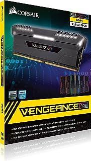 ذاكرة عشوائية للكمبيوتر كورسير 16 GB رام DDR4 اصدار مضيئ بتقنية RGB تردد 3000 ميغا هرتز ( 2X8GB )