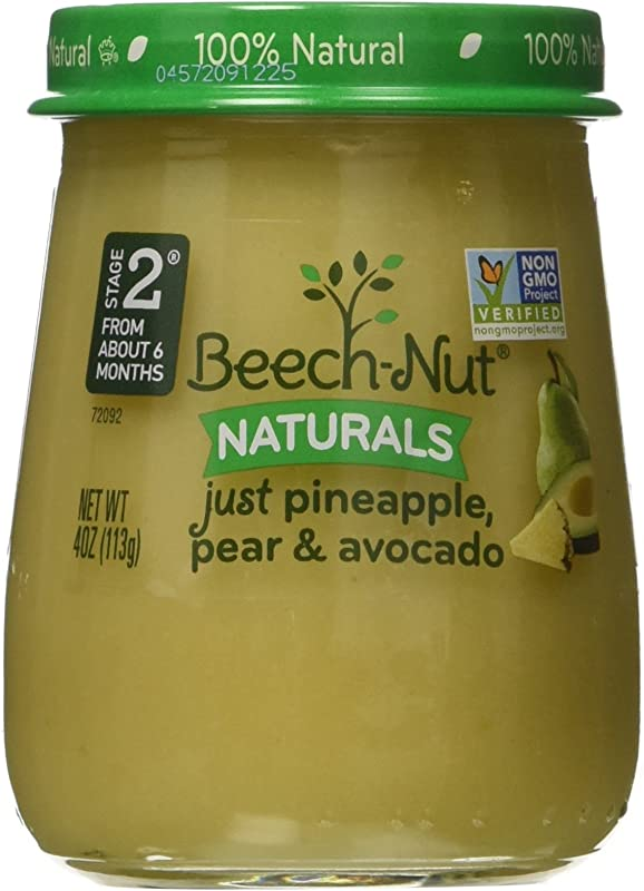 Beech Nut Stage 2 Baby Food Just Pineapple Pear Avocado 4 0 Ounce Pack Of 10