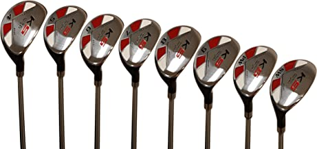 Majek Petite Senior (55+) Womens Golf Clubs All Ladies Hybrid Complete Lightweight Graphite Set Includes: #4, 5, 6, 7, 8, 9, PW + SW Lady Flex Right Handed New Utility L Flex Club