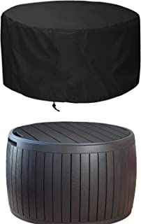 EPCOVER Patio Deck Box Cover,Round Outdoor Storage Table Cover,to Protect Deck Boxes & Round Outdoor Storage Table 28