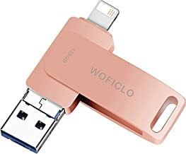 USB Flash Drive for iPhone 128gb WOFICLO Photo-Stick Suitable for Devices External Storage Compatible with iPhone/iPad/iOS...