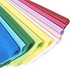 (120 Sheets) Colored Tissue Paper for Gift Wrapping Bags in Bulk for Holidays, Art Crafts, 10 Assorted Colors, 20 x 26 In.