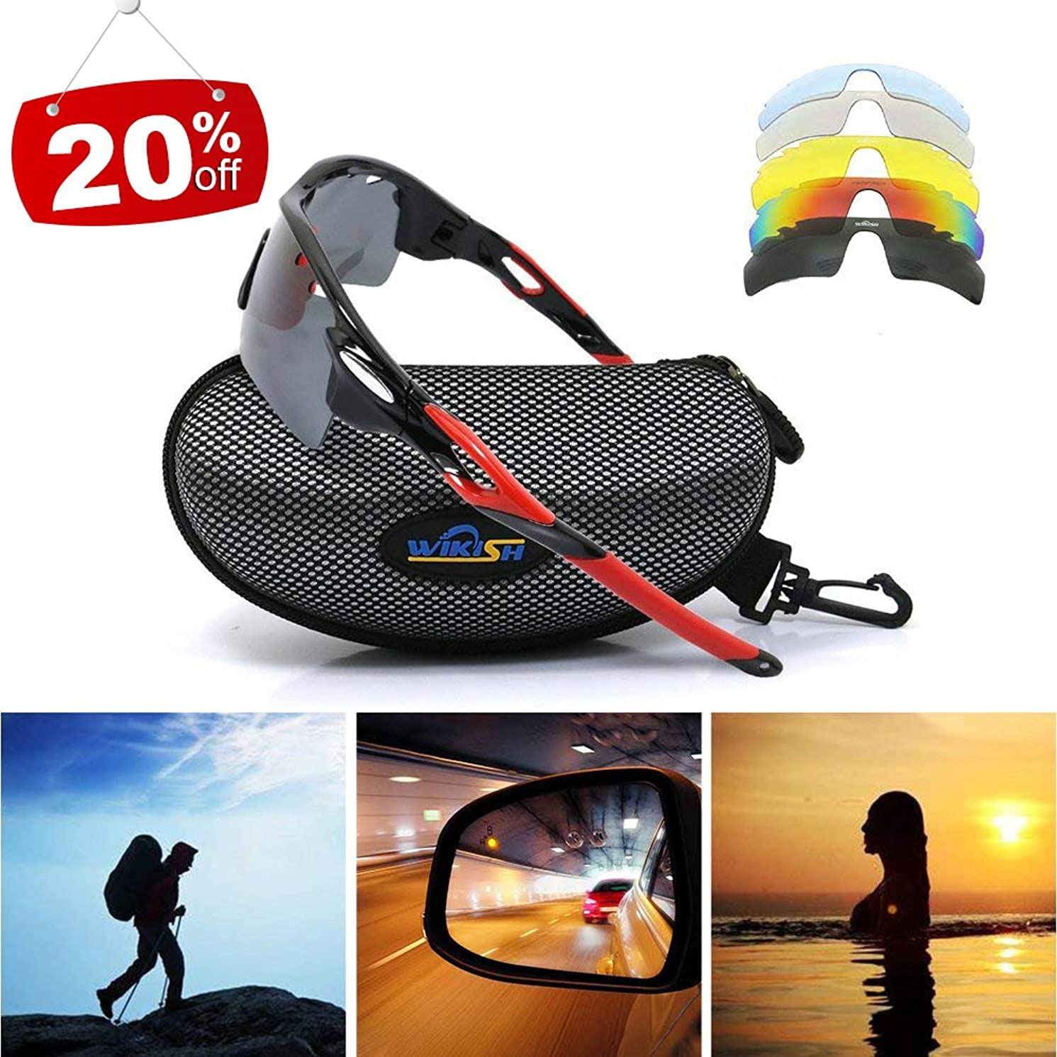 Men Sunglasses Polarized UV Protection Anti-fog for Jogging Cycling Baseball Running Fishing Driving Biker Outdoor Sports