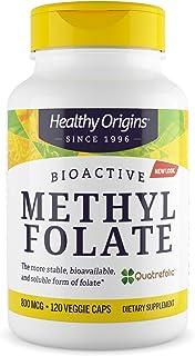 Healthy Origins Methyl Folate (Quatrefolic) 800 mcg, 120 Veggie Caps