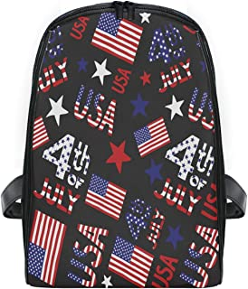 ZZXXB American Flag July 4th Backpack Kids Toddler Child Preschool Kindergarten Waterproof Book Bags Travel Daypack for Boys and Girls