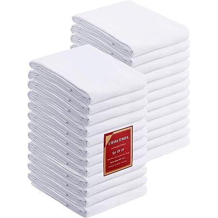 Utopia Kitchen Flour Sack Dish Towels, 24 Pack Cotton Kitchen Towels - 28 x 28 Inches