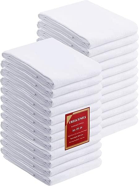 Utopia Kitchen Flour Sack Dish Towels 24 Pack Cotton Kitchen Towels