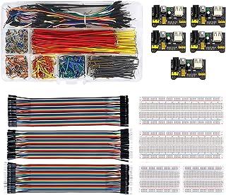 WayinTop ブレッドボード用セット ジャンパーワイヤーキット 18サイズ + 40ピン デュポン線 3種類 + ブレッドボード 2サイズ + 3.3V 5V MB102 ブレッドボード用電源モジュール