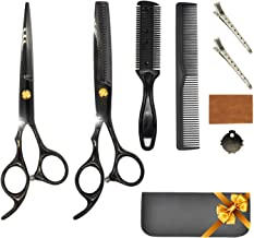 Hairdressing Scissors Set Professional Sharpy Thinning Hair Scissors Black Stainless Steel Split End Trimmer Hair Cutting ...