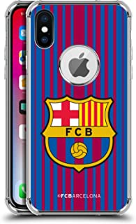 Official FC Barcelona Home 2017/18 Crest Kit Silver Shockproof Fender Case Compatible for iPhone X/iPhone Xs