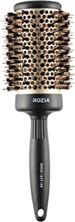 Rozia Pro Boar Bristles Round Hair Brush, Thermal Ceramic & Ionic Tech, Roller Hairbrush for Blow Drying, Curling, Straigh...